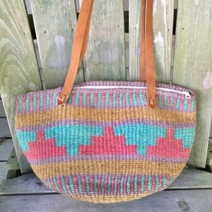 Bohemian boho woven beach tote free people purse